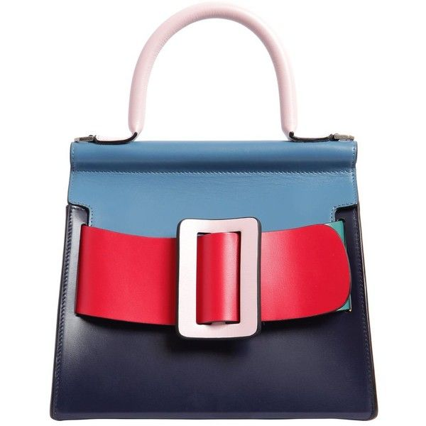 BOYY, Karl 24 color block leather bag, Multicolor, Luisaviaroma ❤ liked on Polyvore featuring bags, handbags, shoulder bags, karl lagerfeld purse, leather colorblock handbags, multicolor handbags, colorblock handbags and real leather handbags