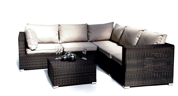 Rattan Corner Chair and Side Chair, perfect for summer events - available to hire from www.d-zinefurniture.co.uk