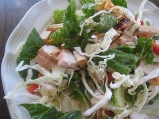 Asian chicken and noodle salad