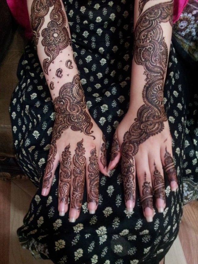 New Top Arabic Mehndi Designs 2016 for Bridal Full Hands