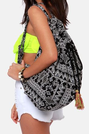 Sandy Streets Black and White Backpack