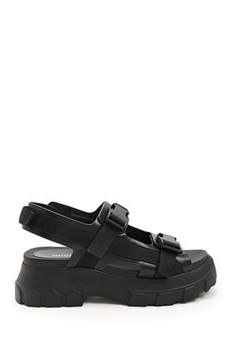 505be375f Faux Leather Release-Buckle Platform Sandals | tip toeing in my in ...