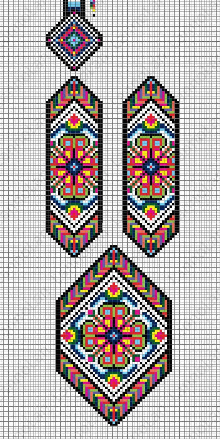 ukraine pattern - gerdan - loom pattern - necklace ... inspired by: https://s-media-cache-ak0.pinimg.com/originals/c2/b1/c4/c2b1c4f5039b0a70b278c31ec2ed2db8.jpg