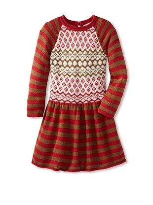 68% OFF Sierra Julian Girl's Folina Star Ruffle Dress (Ruby)