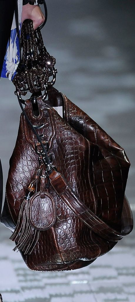 Gucci ~ Leather Tote, Brown