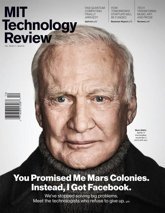 Buzz Aldrin is angry.
