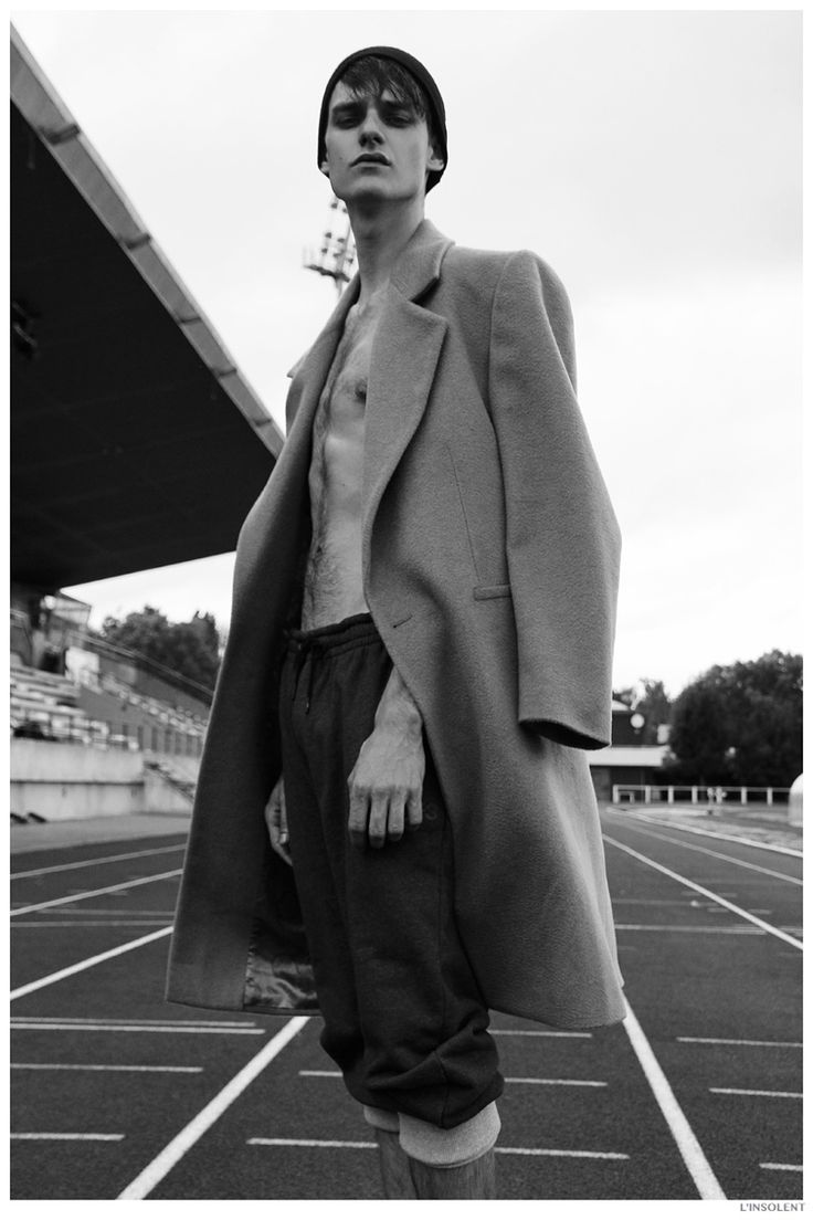 Douglas Neitzke Hits the Track in Sporty Fashions for LInsolent image Douglas Neitzke Linsolent Sporty Mens Fashion Editorial 003