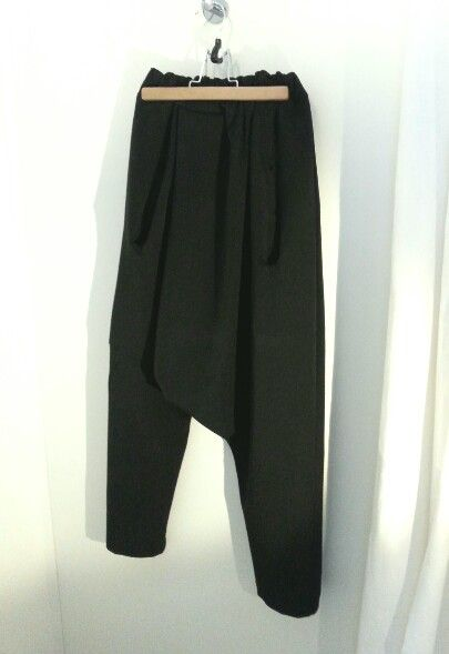 MODC Store ,Asymmetric pants viscose/lycra . Deep black