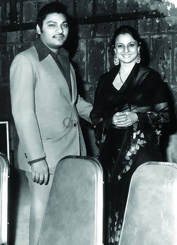 Tanuja and her film-maker husband Shomu Mukherjee.