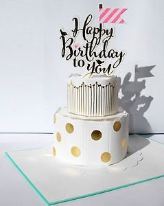Kate Spade-style pop up/stand up birthday card