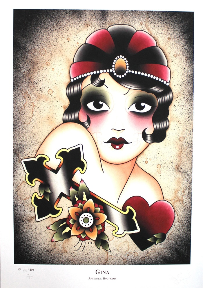 Gina by Angelique Houtkamp.  New Giclee is available here: http://eshop.sergeantpaper.com/fr/print/739-gina-angelique-houtkamp.html #angeliquehoutkamp