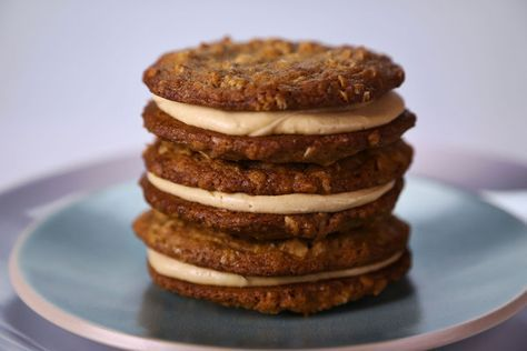 the chew | Recipe | Michael Symon's Creamy Peanut Butter Cookies - these taste as close to Nutter Butters as you are going to get with a homemade cookie!!!