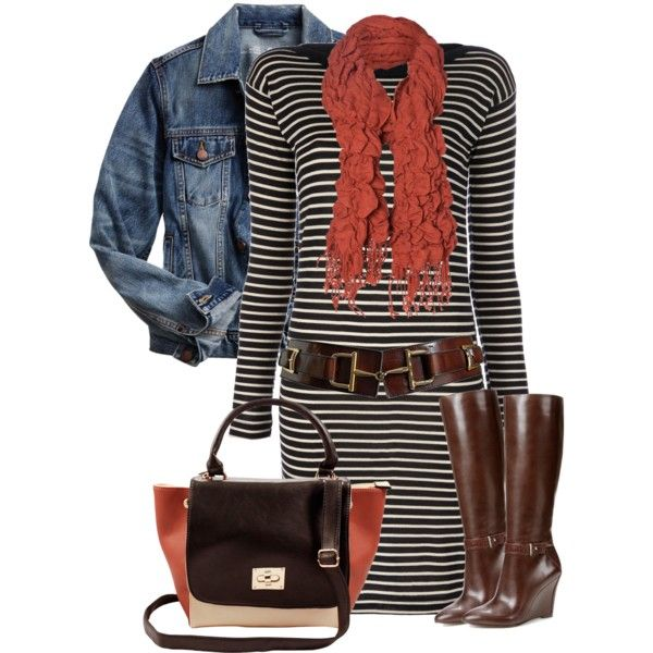 A fashion look from November 2014 featuring long sleeve dresses, blue jackets and short boots. Browse and shop related looks.