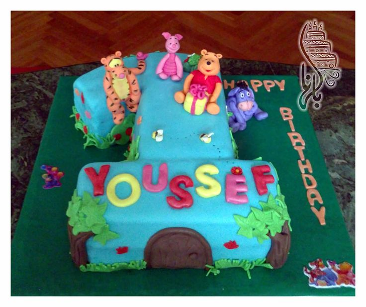Winnie The Pooh First Birthday Cake Winnie The Poo Cakes