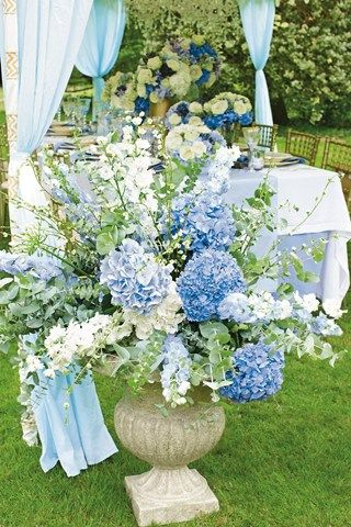 Blue Urn Arrangement