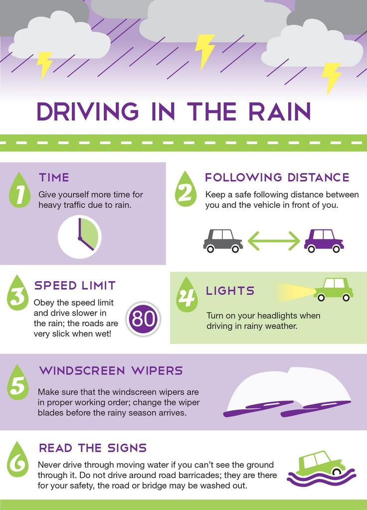 Be extra careful and remember these 6 helpful tips when driving in the rain!