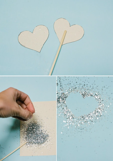 DIY Cake topper.  This would be great in gold mixed in with flowers for the table centerpieces!