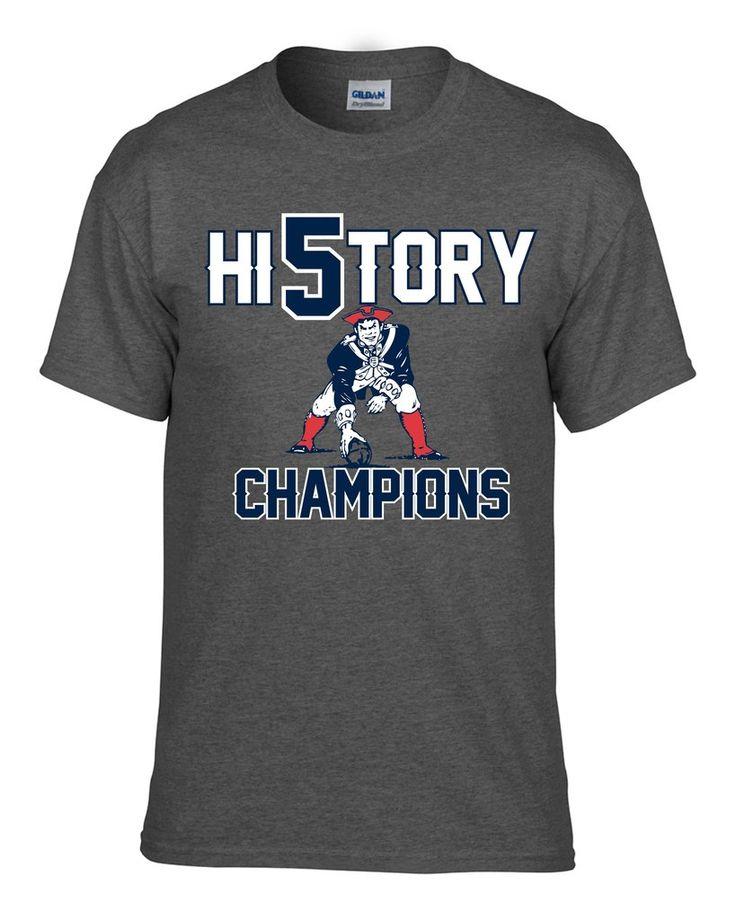 New England Patriots Champions History Tee Sizes Sm-3x Navy #nfl #superbowl #superbowl51 #historychamps #historychampions #football #hi5tory #screenprinting #tshirt #shopify #nflgear #fantee #newengland #newenglandpatriots #patriotstee