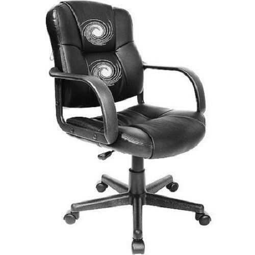 Leather Office Chair Executive Mid Back Massage Task Computer Ergonomic  Modern In Business U0026 Industrial, Office, Office Furniture, Chairs