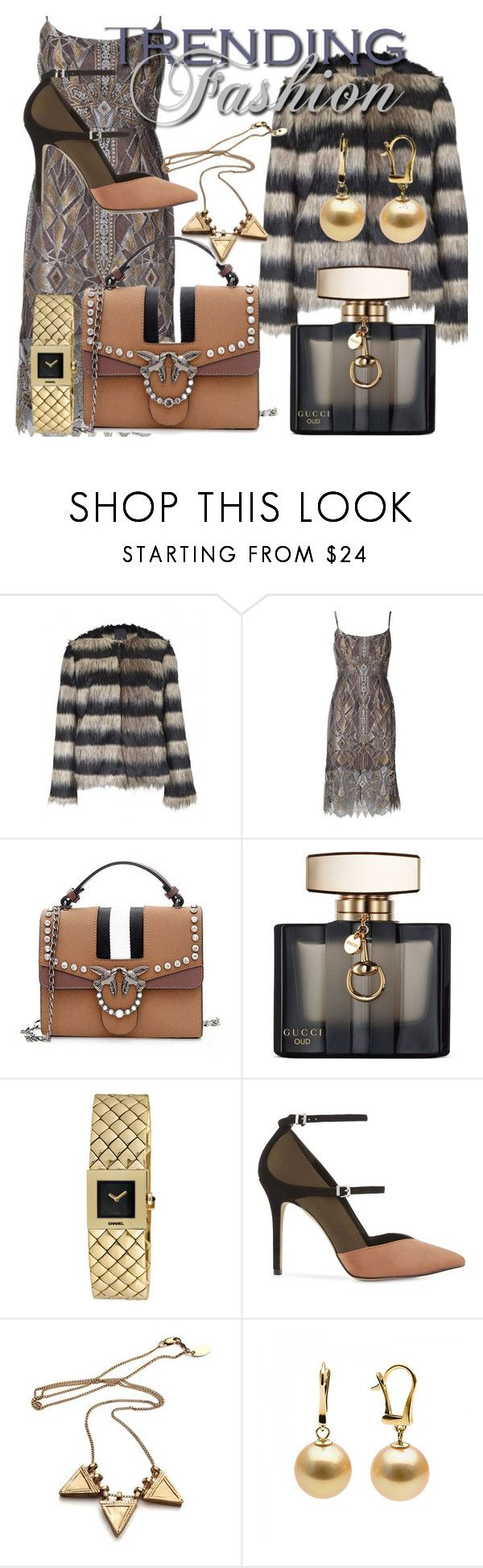 """Fashion Trending"" by drahuschka ❤ liked on Polyvore featuring Ichi, BCBGMAXAZRIA, Gucci, Chanel and Reiss"