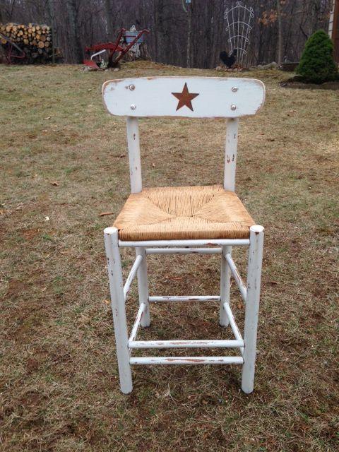 Country bar stool | Refurbished and Repurposed | Pinterest