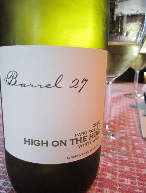 """January 9th - Barrel 27 """"High on the Hog"""" Viognier"""