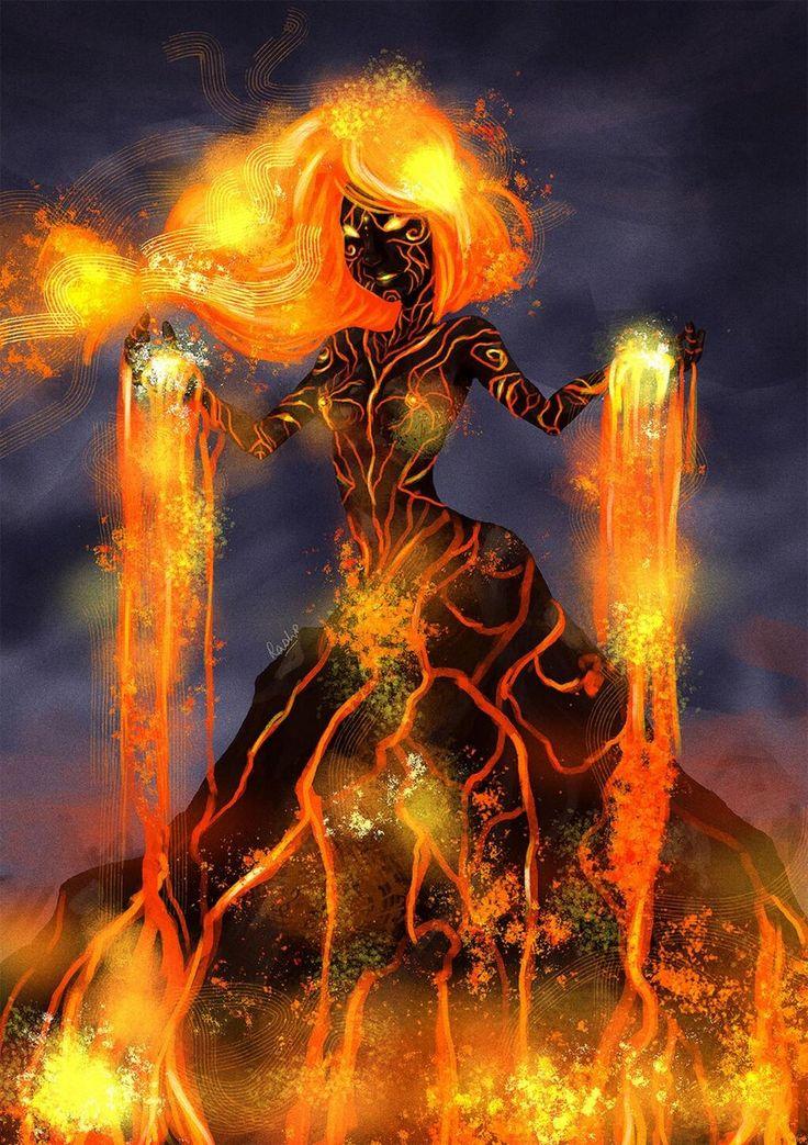 Pele the Hawaiian Goddess of Volcanoes.