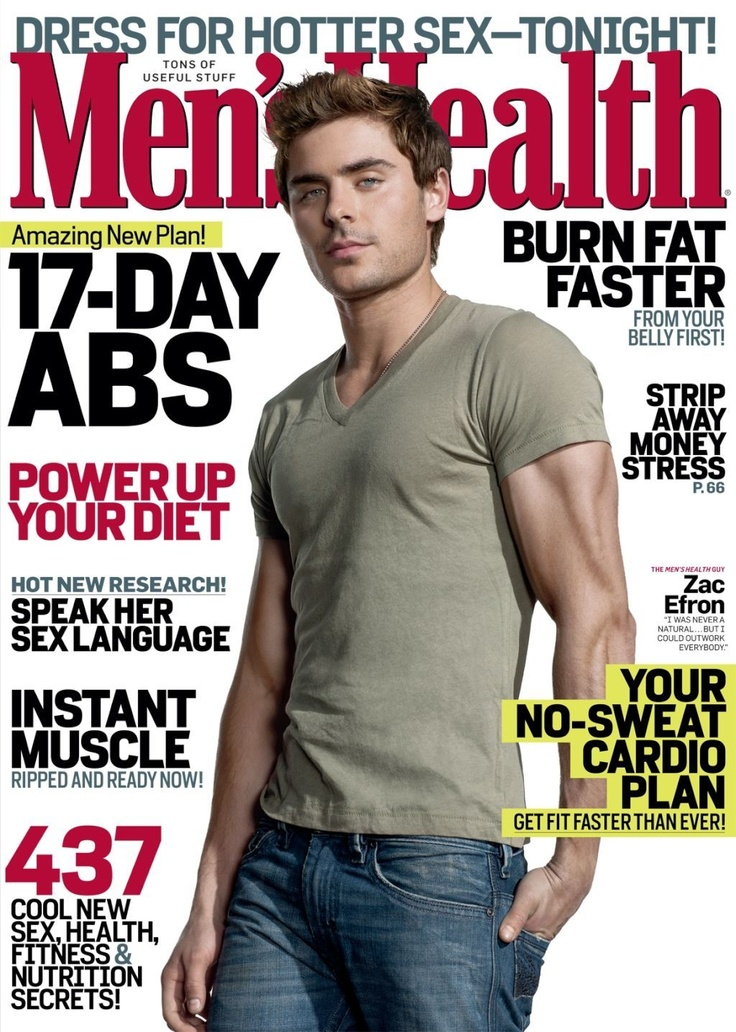 Zac Efron - Men's Health Magazine Cover [United States] (May 2012)