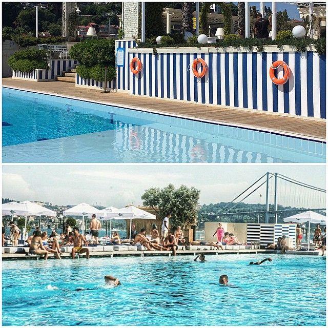 Suada Club, Galatasaray Adasi Istanbul Turkey #pool #design #marine #blue #white by Gsc Design | Interiors | Atelier