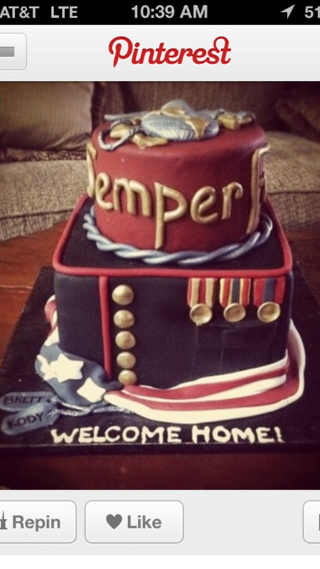 17 best images about welcome home cake on pinterest home for Welcome home troops decorations