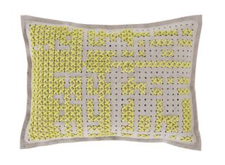 Gandia Blasco Canevas Large Rectangular Abstract Cushion   2Modern Furniture & Lighting
