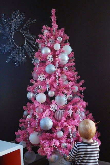 It's beginning to look a lot like (pink) Christmas!!! Bebe'!!! Love this Pink And Silver Christmas Tree!!!