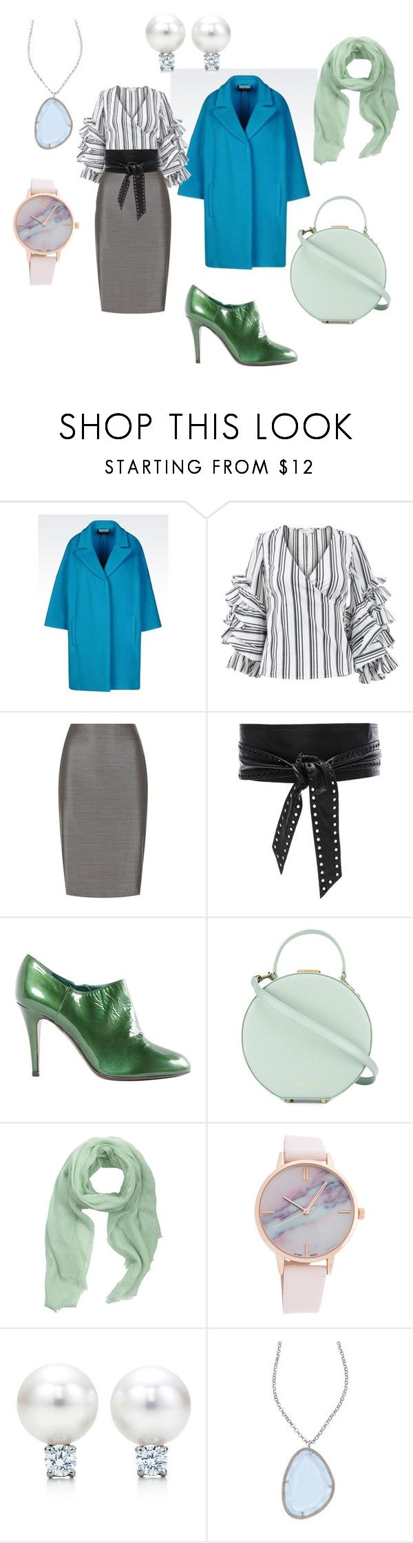 """На работу"" by evavendoc on Polyvore featuring мода, Caroline Constas, MaxMara, IRO, Sergio Rossi, Tammy & Benjamin, MANGO и Elliott Chandler"