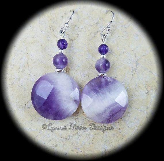 Amethyst Earrings by Cindy A.