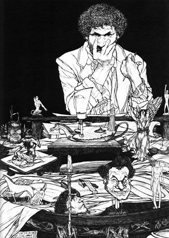 Austin Osman Spare was a great artist with a touch of Beardsley, Blake and healthy dose of Crowley. I always admired the images for the way that they force me to imagine what was going through the artist mind at the time of creating his images.
