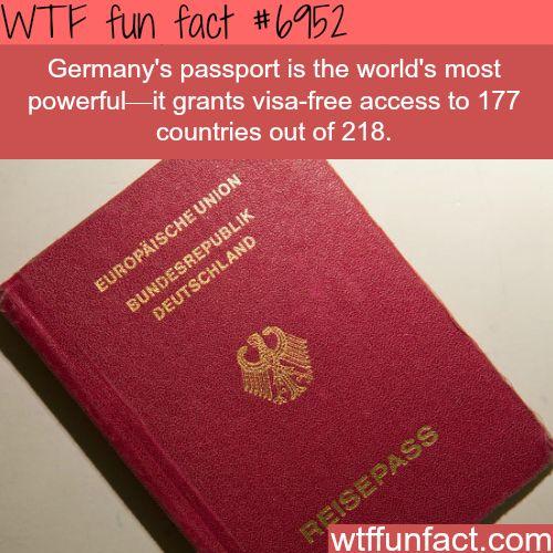 Most powerful passport - WTF fun fact