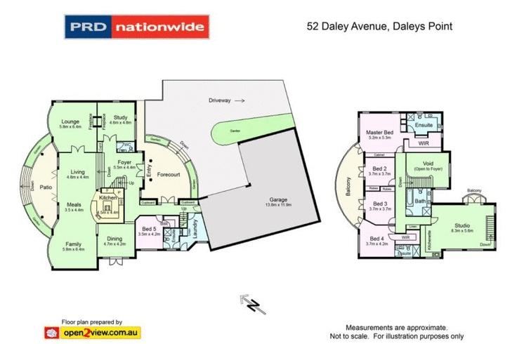 Daleys Point house: floorplan.