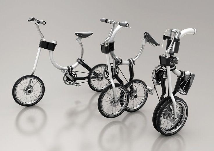 Транспортабельный городской велосипед с круглой рамой / Kaiser Chang