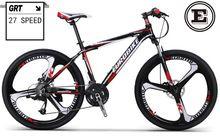 EUROBIKE 26 pulgadas bicicleta de montaña línea de freno de disco 27 velocidad mtb bicicleta marco de aleación de aluminio de 160-185 cm jinete suepension tenedor(China (Mainland))