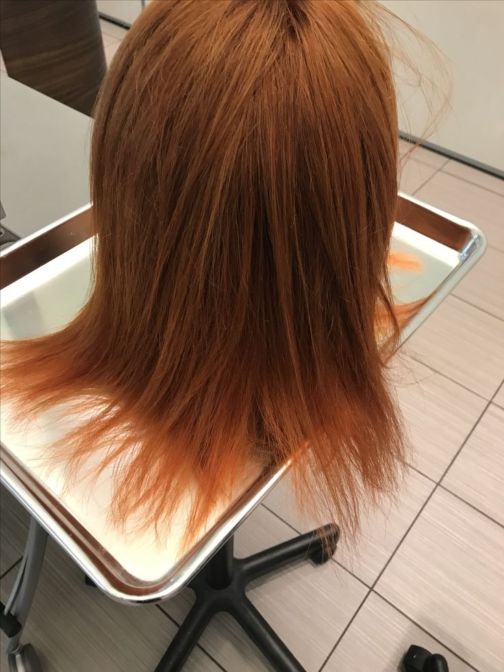 Maniquinne done with both dia light and dia Richesse. Color 7.43  using 6vol at the scalp  9vol on the mids and 15vol on the ends.  Top sections done with dia light bottom done with dia richesse