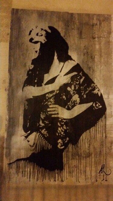 Femme au châle, devant le Couvent des Ursulines, Montpellier