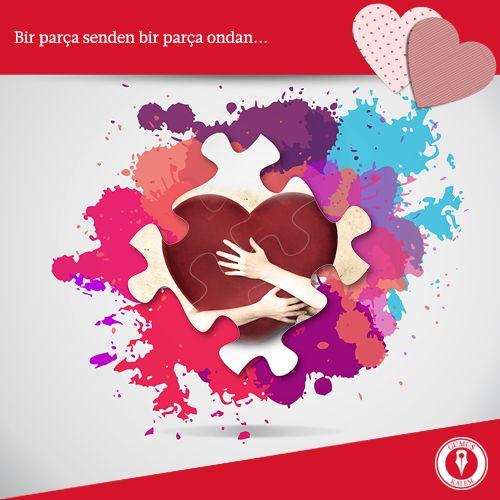 Aşkınızı en iyi anlatan puzzle! www.gumuskalem.com.tr