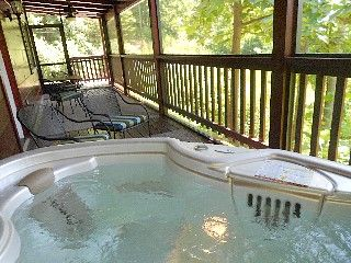Sale on PRIVATE luxury cabin w HOT TUB on SCREEN PORCH! WiFi+HDTV+Fireplace+King Vacation Rental in Pigeon Forge from @homeaway! #vacation #rental #travel #homeaway
