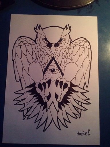 tatto draw illuminati