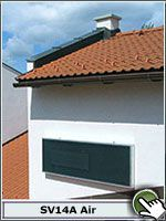SV14 - Solar Air collector. Wall mount. #solarventi #solarventiau