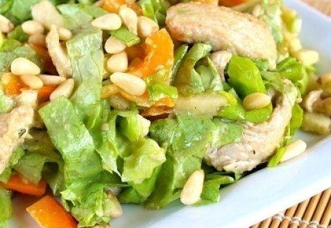 Салат из языка отварного с грибами