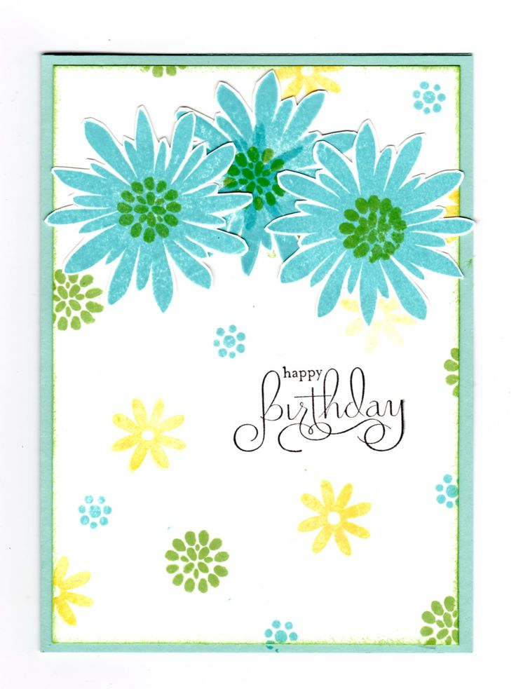 Handmade card - stamps by Stampin' Up - Flower Patch set.