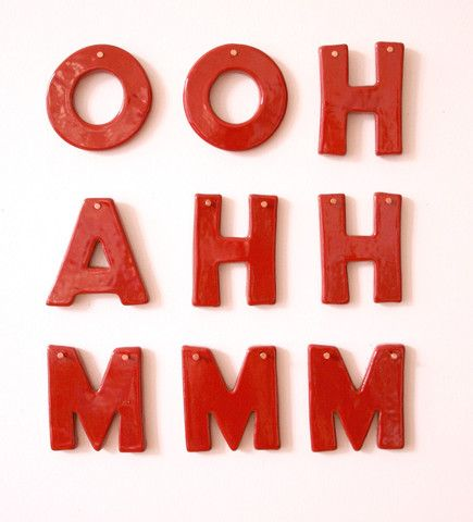 : Red, Ahh Mmm, Ohh Ahh, Color, Things, Kitchen, Typography, Valentine, Ooh Ahh