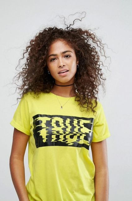 ASOS T-Shirt with Neon Print with True High Build Print