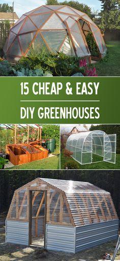 15 Proyectos de efecto invernadero bricolaje baratos y fáciles